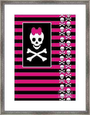 Emo Skull Princess Framed Print