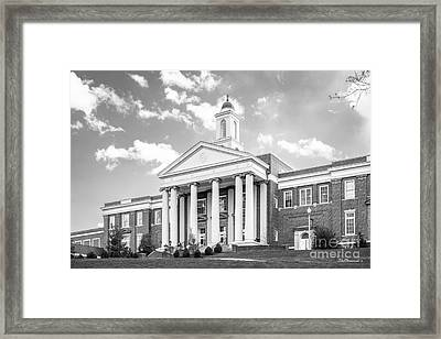 Emory And Henry College Wiley Hall Framed Print by University Icons