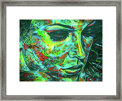 Emotion Green Framed Print