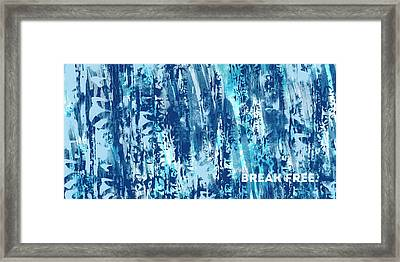 Emotional Art Break Free   Framed Print by Melanie Viola