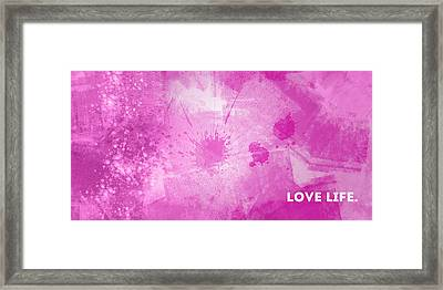 Emotional Art Love Life Framed Print by Melanie Viola