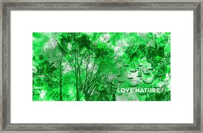 Emotional Art Love Nature Panoramic Framed Print by Melanie Viola