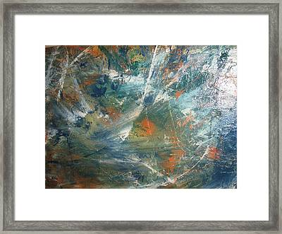 Emotional Deluge Framed Print by Paula Andrea Pyle