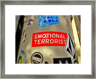 Emotional Terrorist In New York  Framed Print