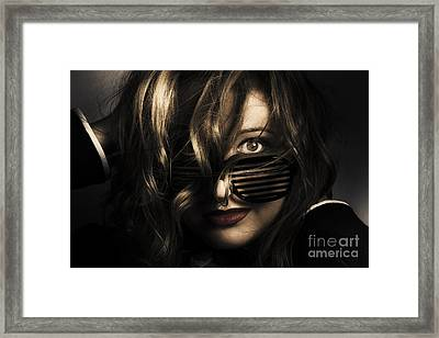 Emotive Headshot On A Fashionable Female Model Framed Print by Jorgo Photography - Wall Art Gallery