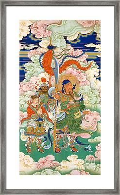 Emperor Guan, Hanging Scroll Framed Print