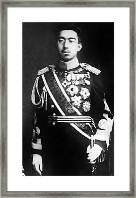 Emperor Hirohito, Of Japan, Portrait Framed Print by Everett