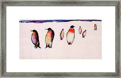 Emperors On Ice Framed Print by Carolyn Doe