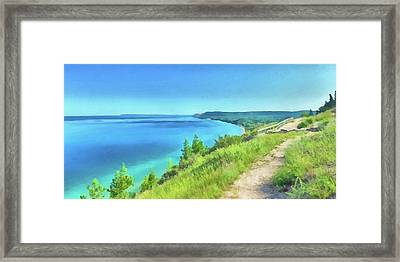 Framed Print featuring the digital art Empire Bluffs  by Digital Photographic Arts
