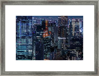 Empire Of Lights Framed Print by Stefano Carniccio