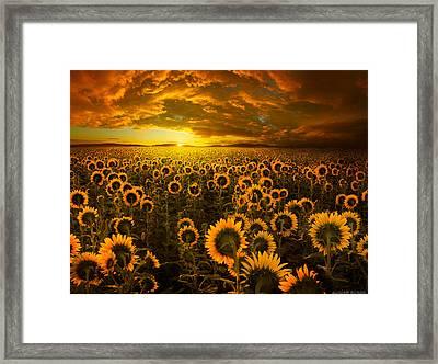 Empire Of The Sun Framed Print by Adrian Borda