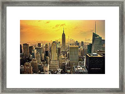 Empire Of The Sun Framed Print by Martin Newman