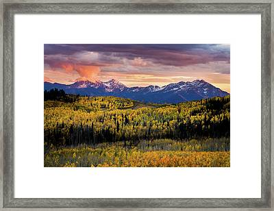 Empire Pass Autumn Framed Print by TL Mair