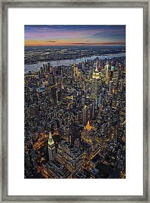Empire State Aerial View Framed Print by Susan Candelario
