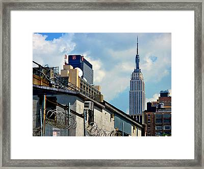Empire State Building - A Different View Framed Print