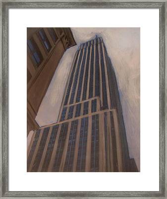 Empire State Building 1 Framed Print by Anita Burgermeister