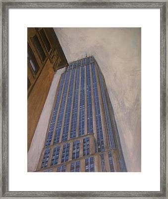 Empire State Building 2 Framed Print by Anita Burgermeister