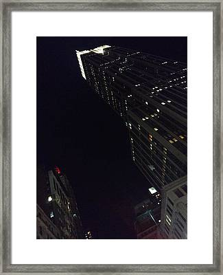 Empire State Building Framed Print by Bruce Lennon