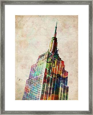 Empire State Building Framed Print by Michael Tompsett
