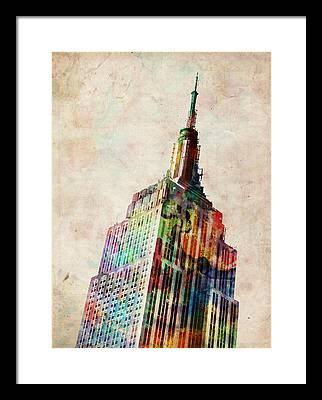 Empire State Building Framed Prints