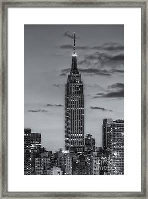 Empire State Building Morning Twilight Iv Framed Print