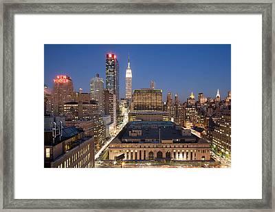 Empire State Building New York City Skyline Framed Print by Binh Ly