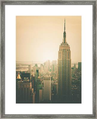 Empire State Building - New York City Framed Print by Vivienne Gucwa