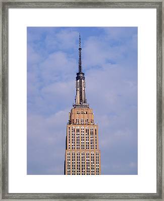 Framed Print featuring the photograph Empire State Building Observatory by Margie Avellino