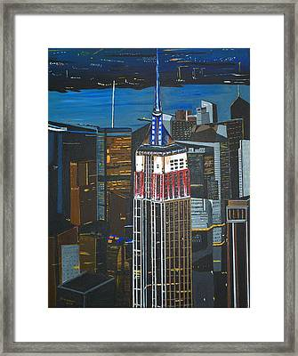 Empire State Framed Print by Donna Blossom