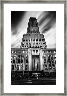 Empire State Framed Print by Marvin Spates