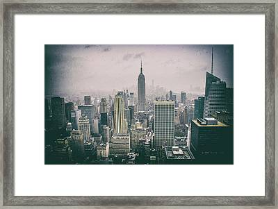 Empire State Nyc Framed Print by Martin Newman