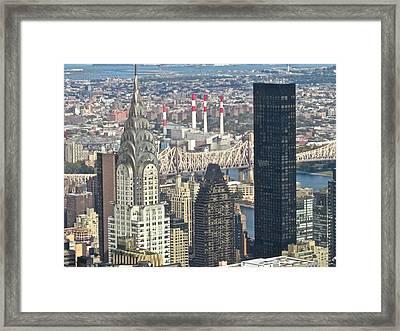 Empire To Chrystler Framed Print