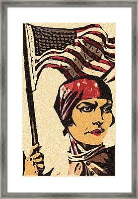 Employ American Buy American Framed Print by Jennifer Ott