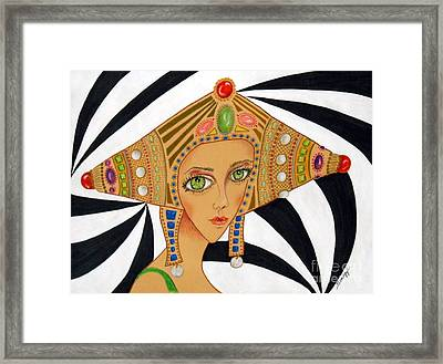 Empress Exotica -- Whimsical Exotic Woman Framed Print