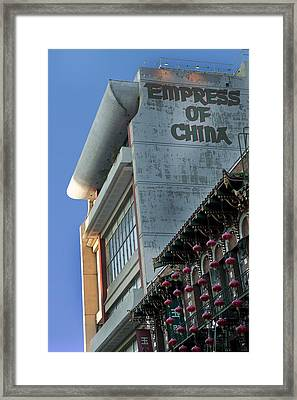 Empress Of China Framed Print by Joel P Black