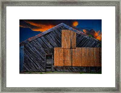 Framed Print featuring the photograph Empty Barn by Harry Spitz