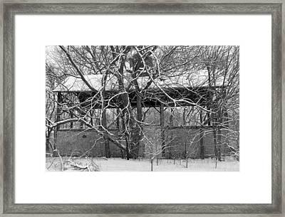 Empty Barn Framed Print by Melanie Guest