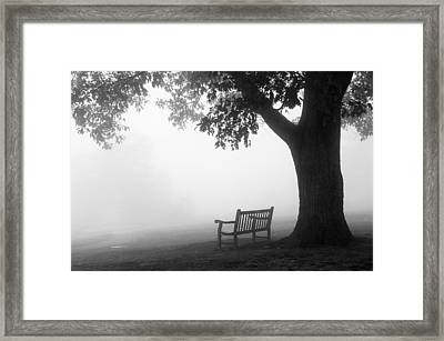 Framed Print featuring the photograph Empty Bench by Monte Stevens