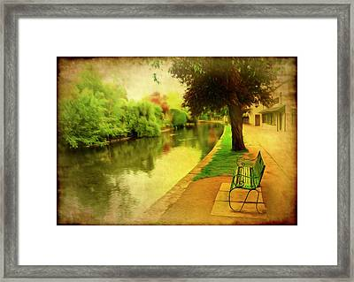 Empty Bench Framed Print by Svetlana Sewell