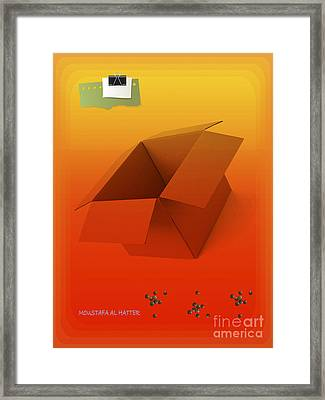 Outside Empty Box Framed Print by Moustafa Al Hatter