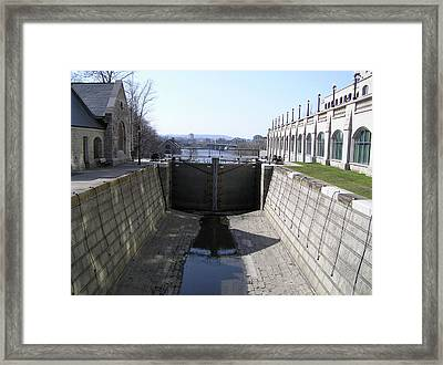 Empty Canal Lock Framed Print by Richard Mitchell