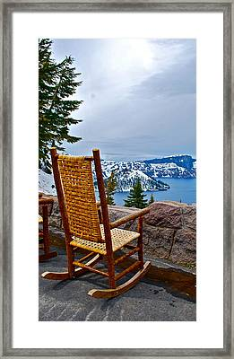 Empty Chair Framed Print by Dorota Nowak