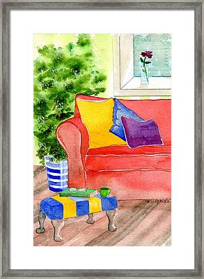 Empty Chair Series 4 Framed Print by Melody Allen