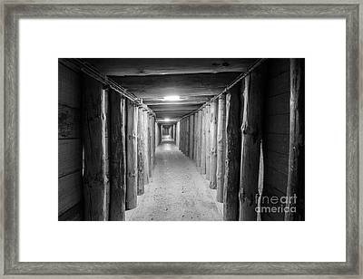 Empty Corridor Framed Print by Juli Scalzi