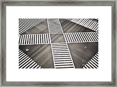 Empty Crosswalk Shibuya Crossing Framed Print