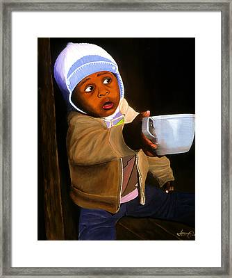 Empty Cup Framed Print