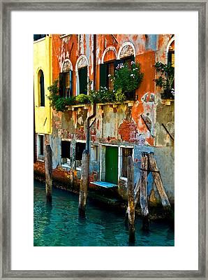 Empty Dock Framed Print