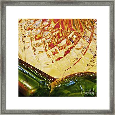 Empty Glass 3 Framed Print by Sarah Loft