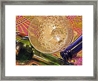 Empty Glass Framed Print by Sarah Loft