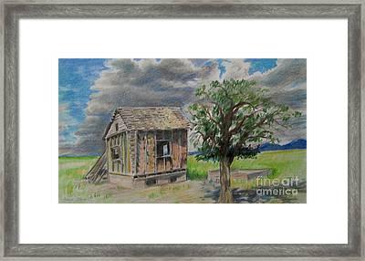 Empty Homestead  Framed Print by Jeanette Skeem